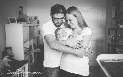 Neugeborenenshooting im eigenen Zuhause – Homestory in Erfurt